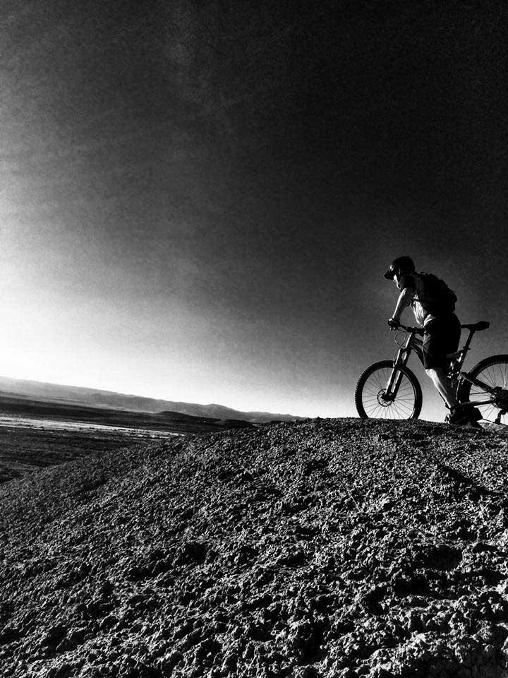 Danny Lindsay riding his mountain bike in Fruita, Colorado